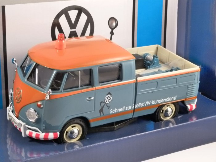 VOLKSWAGEN T1 Doublecab VW Service - 1/24 scale model by MotorMax