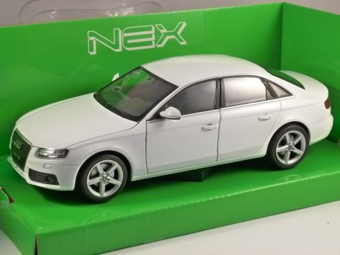 2009 AUDI A4 in White 1/24 scale model by WELLY