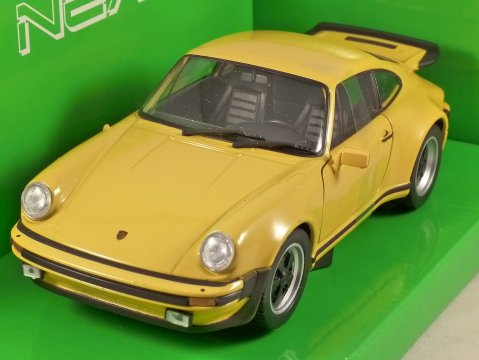 1974 PORSCHE 911 TURBO 3.0 in Yellow 1/24 scale model by WELLY