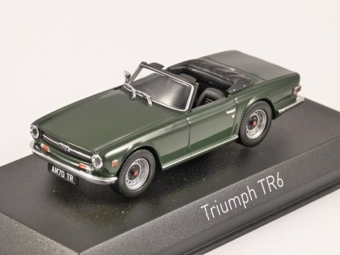 1970 TRIUMPH TR6 in Green 1/43 scale model by Norev