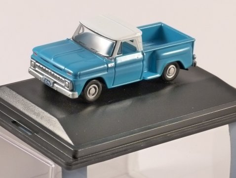 1965 CHEVROLET STEPSIDE PICKUP in Blue 1/87 scale model OXFORD DIECAST