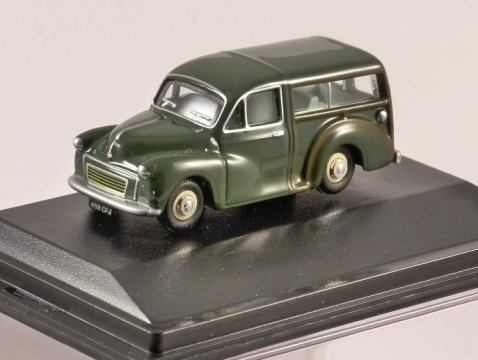 MORRIS MINOR TRAVELLER in Almond Green 1/76 scale model OXFORD DIECAST