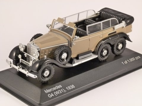 1938 MERCEDES G4 (W31) in Beige / Black 1/43 scale model by Whitebox