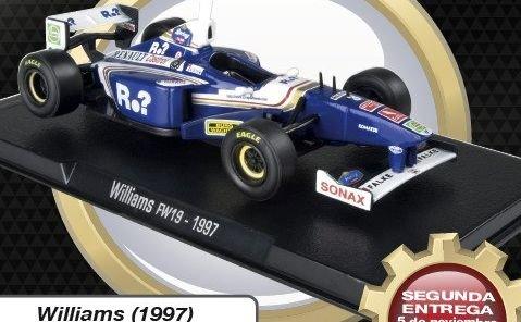 1997 WILLIAMS FW19 Jacques Villeneuve - Formula 1 - 1/43 scale partwork model