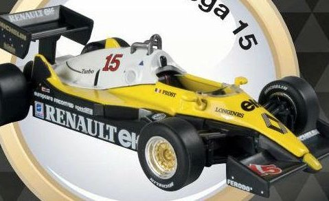 1983 RENAULT RE40 Formula 1 Alain Prost - 1/43 scale partwork model