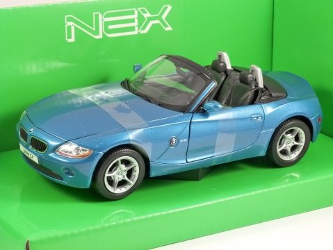 2003 BMW Z4 in Blue 1/24 scale model by WELLY