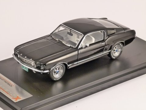 1967 FORD MUSTANG GT FASTBACK in Black 1/43 scale model by PREMIUM X