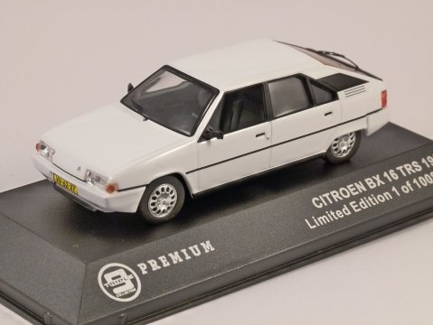 1983 CITROEN BX 16 TRS in White - 1/43 scale model Triple 9 Collection