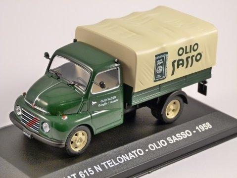 1958 FIAT 615 N TELONATO - Olio Sasso - 1/43 scale model by Altaya