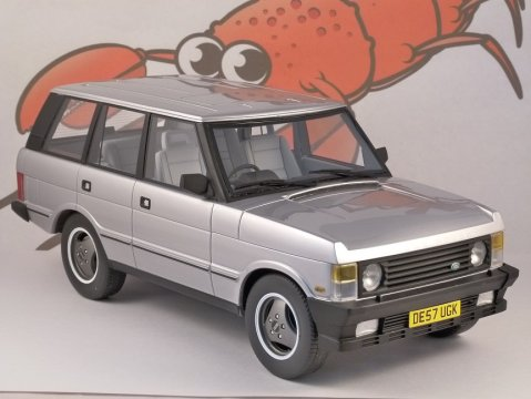 1986 RANGE ROVER in Silver 1/18 scale resin model - LS Collectables