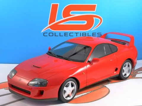 1993 TOYOTA SUPRA in Red 1/18 scale resin model - LS Collectables