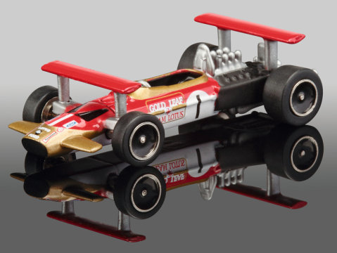 LOTUS 49B GOLD LEAF - Graham Hill - PICCOLO 1/90 scale model by SCHUCO