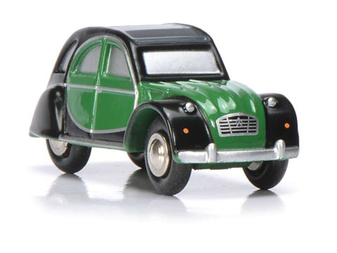 CITROEN 2CV Green / Black - PICCOLO 1/90 scale model by SCHUCO