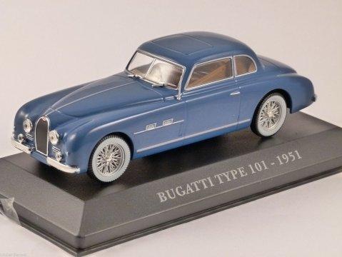1951 BUGATTI TYPE 101 in Blue 1/43 scale model ALTAYA