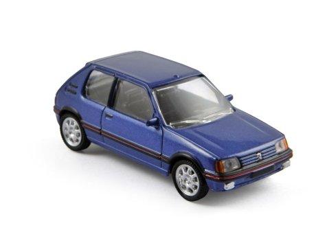 PEUGEOT 205 GTi in Blue scale model by NOREV Minijets