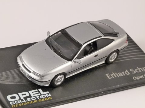OPEL CALIBRA in Silver 1/43 scale model ALTAYA