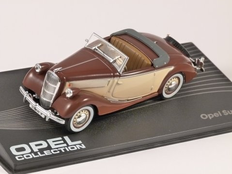 1937 - 38 OPEL SUPER 6 in Brown / Beige 1/43 scale model ALTAYA