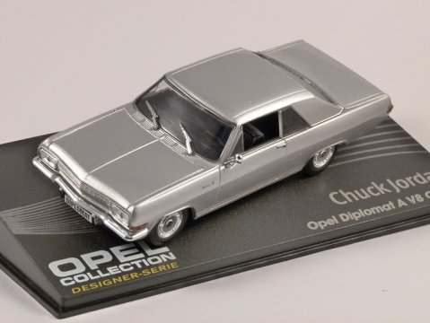 OPEL DIPLOMAT A V8 COUPE in Silver 1/43 scale model ALTAYA