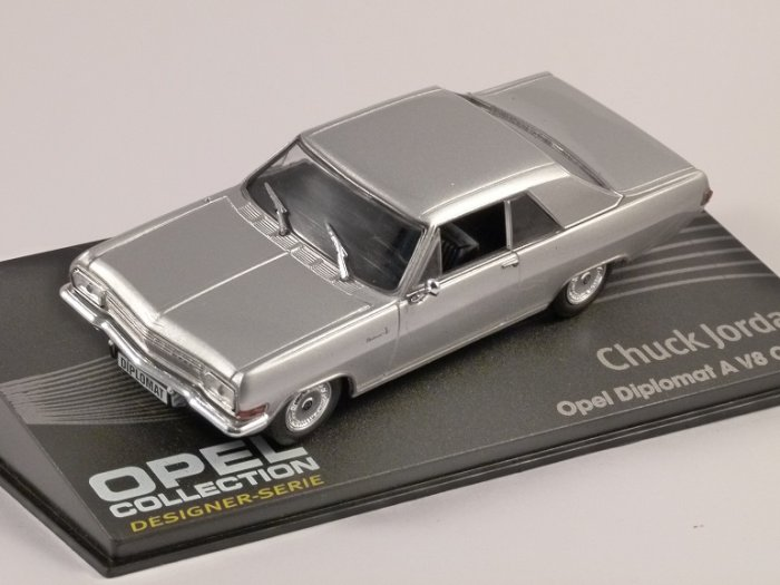 opel diplomat a v8 coupe in silver 1 43 scale model altaya. Black Bedroom Furniture Sets. Home Design Ideas