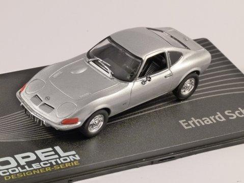 OPEL GT in Silver 1/43 scale model ALTAYA