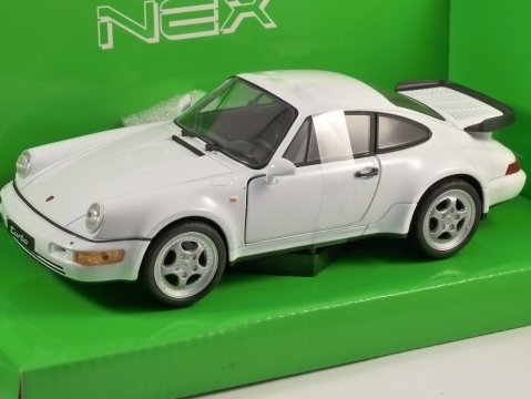 PORSCHE 911 964 TURBO in White 1/24 scale model by WELLY