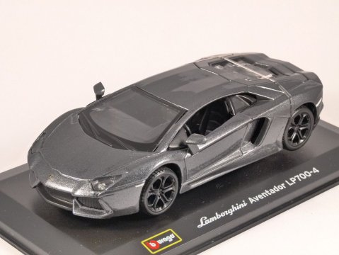 LAMBORGHINI AVENTADOR LP700-4 in Grey 1/32 scale model by Burago