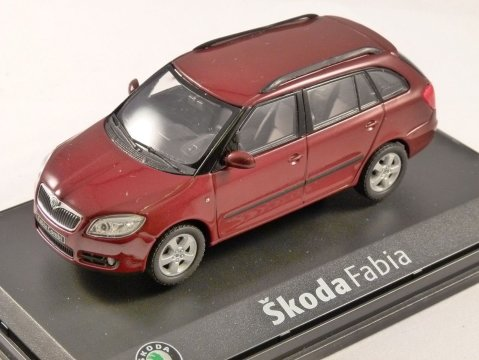 SKODA FABIA COMBI in Red Flamenco 1/43 scale model by ABREX