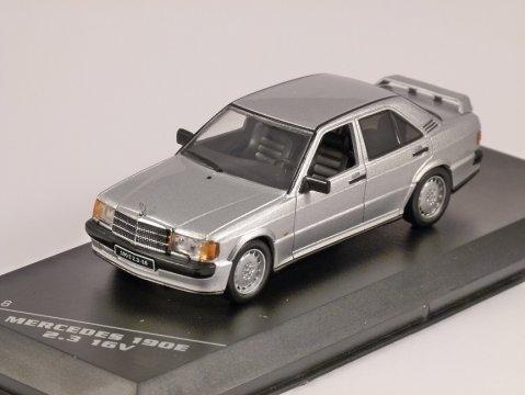 1988 MERCEDES 190E 2.3 16V in Silver 1/43 scale model by Whitebox