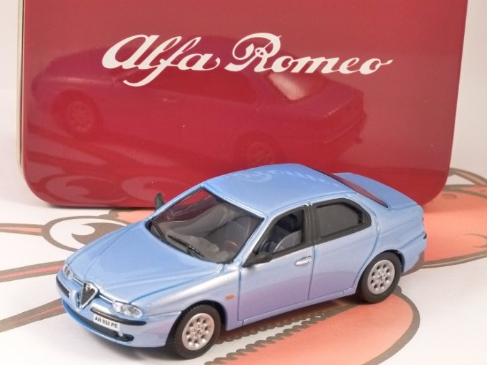 ALFA ROMEO 156 in Light Blue 1/43 scale model by SOLIDO
