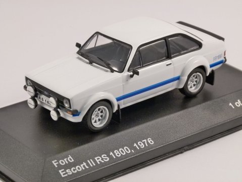 1976 FORD ESCORT Mk2 RS1800 in White 1/43 scale model by Whitebox