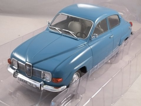1976 SAAB 96 V4 in Blue 1/18 scale model by MCG