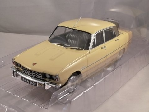 1974 ROVER P6 3500 V8 in Dark Yellow 1/18 scale model by MCG
