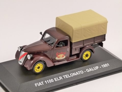 1951 FIAT 1100 ELR Telonato - Galup 1/43 scale model by Altaya
