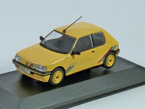 PEUGEOT 205 RALLYE in Yellow 1/43 scale model CORGI Vanguards
