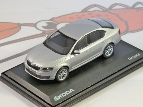 2012 SKODA OCTAVIA III in Silver Brilliant 1/43 scale model ABREX