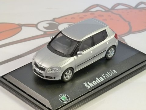 SKODA FABIA II in Silver 1/43 scale model by ABREX
