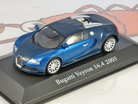 2005 BUGATTI VEYRON 16.4 in Blue - 1/43 scale partwork model - Atlas Editions
