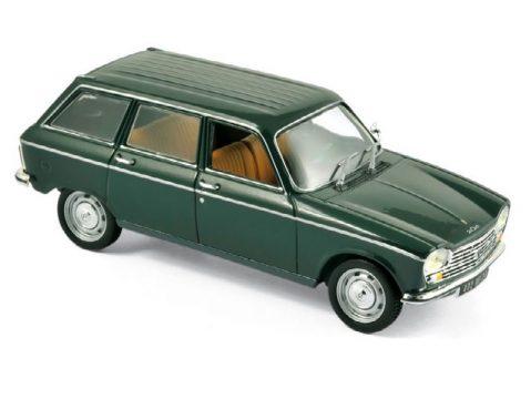 1969 PEUGEOT 204 BREAK in Green 1/43 scale model by Norev