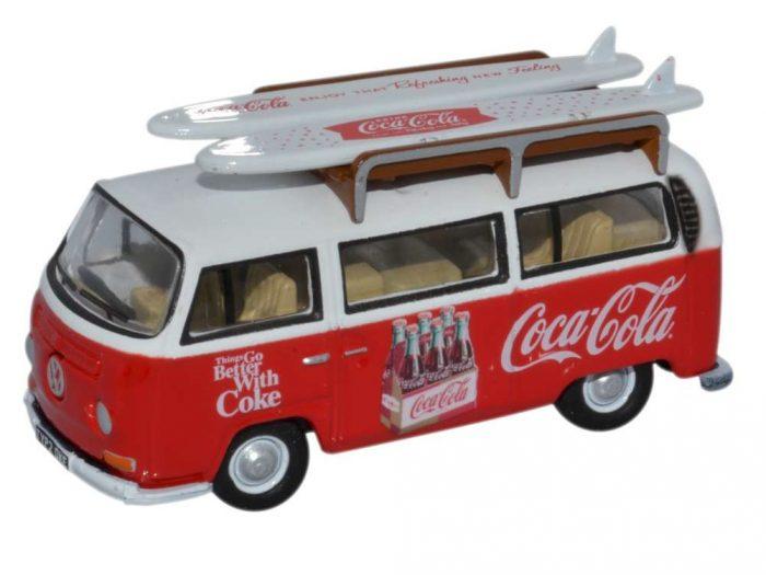 VOLKSWAGEN T2 SURF Coca Cola 1/76 scale model OXFORD DIECAST