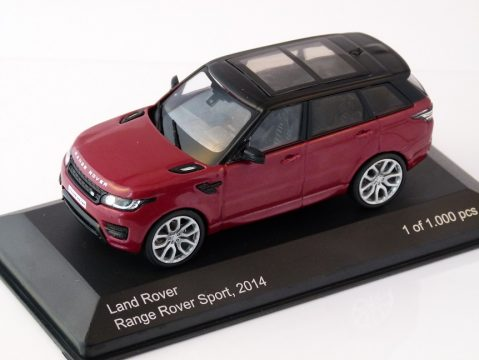 2014 RANGE ROVER SPORT in Red / Black 1/43 scale model by Whitebox