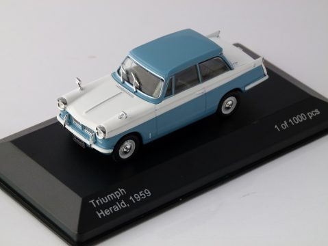 1959 TRIUMPH HERALD in Blue / White 1/43 scale model by Whitebox