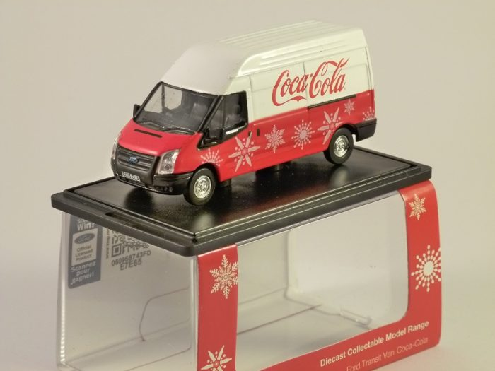 FORD TRANSIT LWB Coca Cola / Coke Xmas 1/76 scale model OXFORD DIECAST