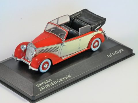 1939 MERCEDES 230 (W153) in Red / Cream 1/43 scale model by Whitebox