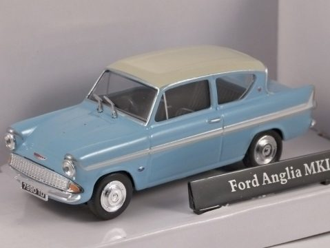 FORD ANGLIA Mk1 in Blue / White 1/43 scale model by Cararama