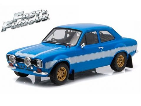FORD ESCORT Mk1 RS2000 in Blue / White F&F 1/18 scale model by Greenlight
