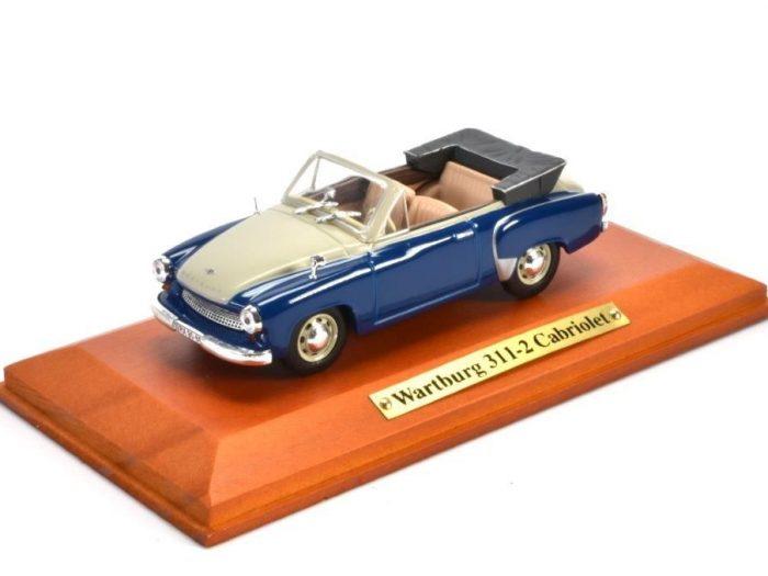 WARTBURG 311-2 CABRIOLET in Blue / Cream 1/43 scale model Atlas Editions