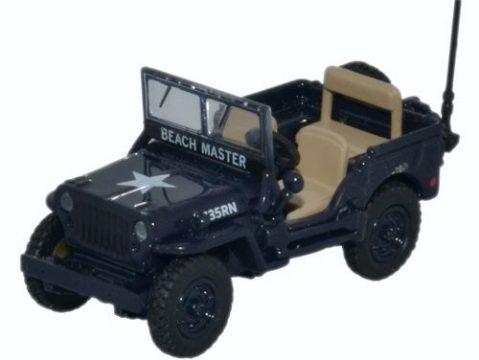 WILLYS MB JEEP Royal Navy 1/76 scale model OXFORD DIECAST