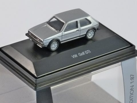 Schuco VOLKSWAGEN GOLF Mk 1 GTi in Silver 1/87 scale model