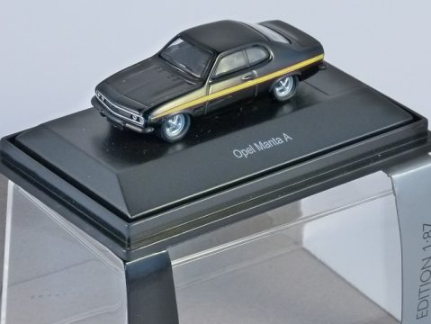 Schuco OPEL MANTA A in Black 1/87 scale model