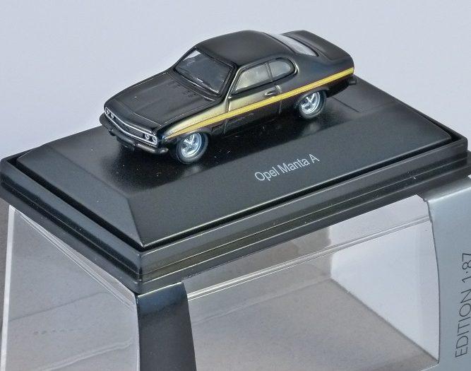 Schuco OPEL MANTA A in Black 1/87 scale model